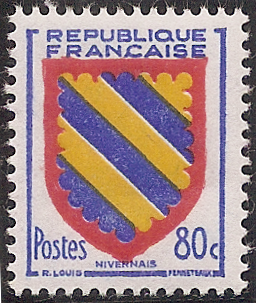 Topical Stamps Stamp Timbre France Oblitere N° 1002 Blason Bourbonais